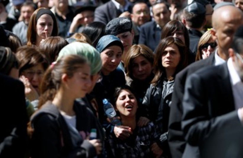 Mother of Toulouse victim at funeral in J'lem 390 (R) (photo credit: REUTERS/Baz Ratner)