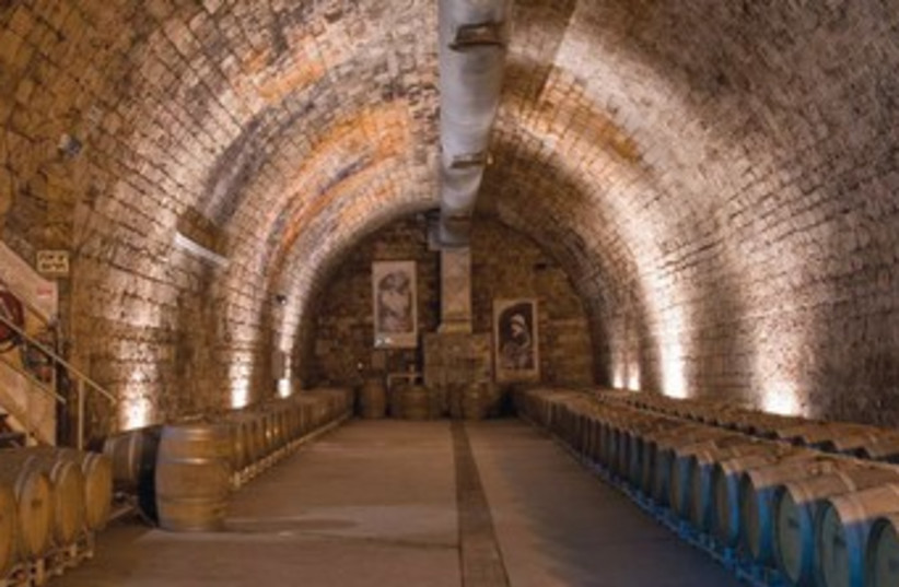Wine cellar at Carmel Winery 370 (photo credit: Courtesy)