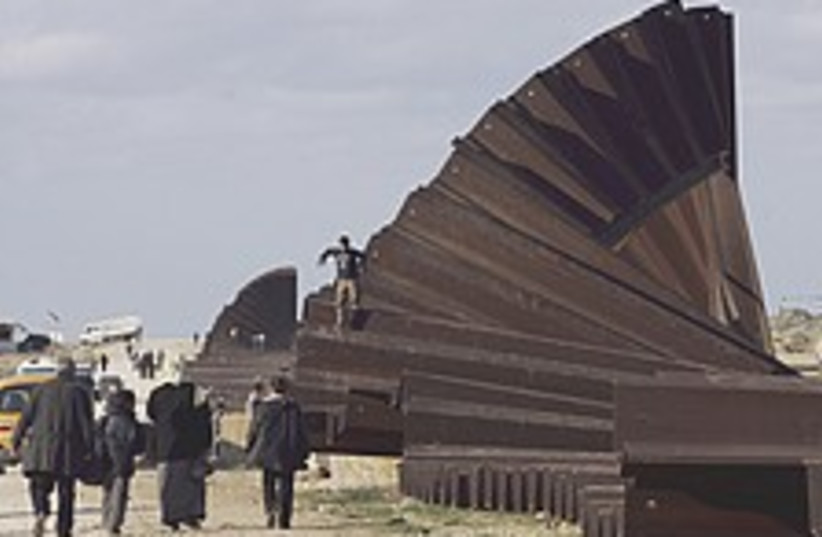 Rafah broken wall 224.88 (photo credit: AP)