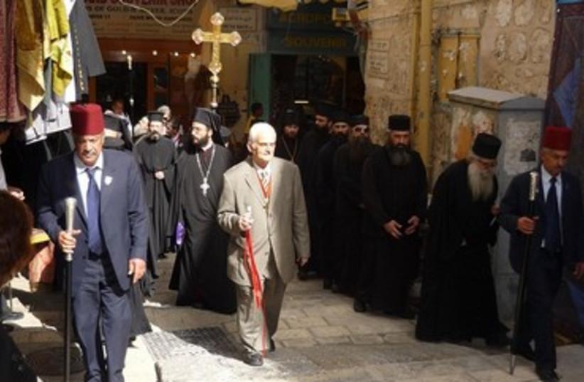 Good Friday procession in Jerusalem 370 (photo credit: Travelujah)