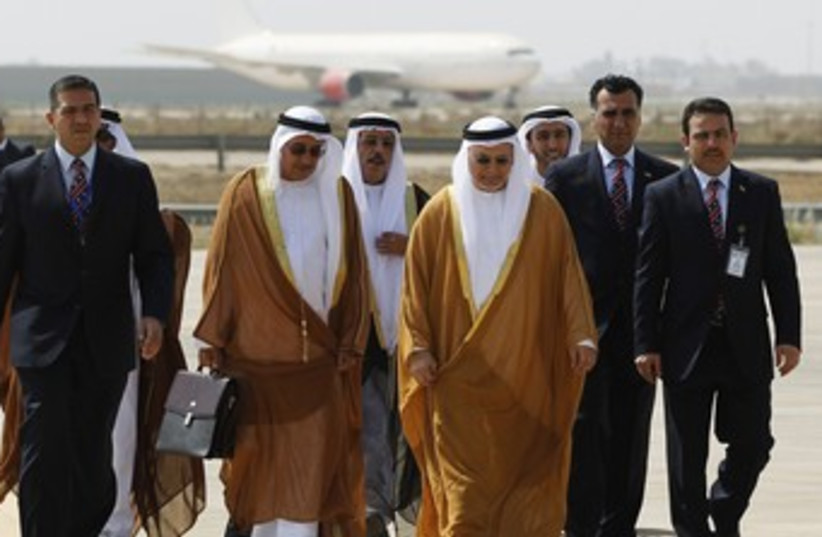UAE Minister of State for Foreign Affairs arrives at summit (photo credit: REUTERS)