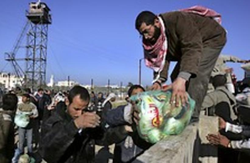 Palestinians Rafah food  (photo credit: AP)