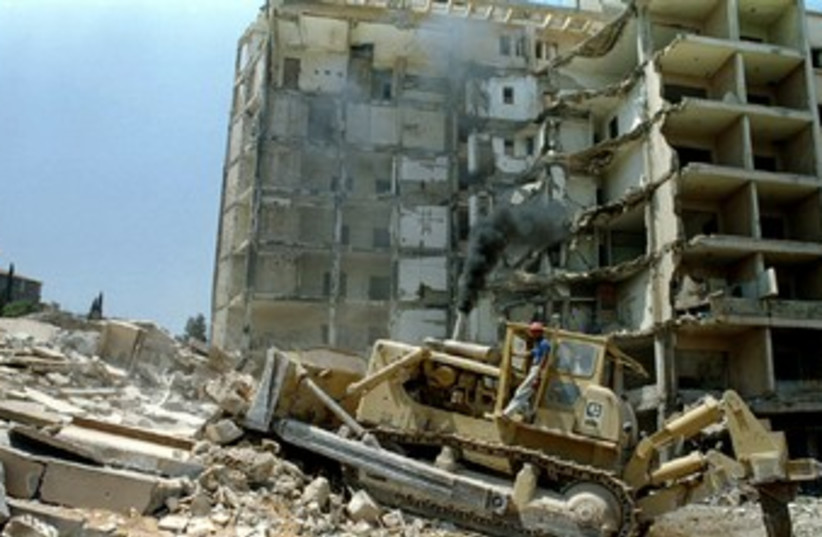 US embassy in Beirut bombed in 1983 370 (photo credit: REUTERS/Stringer .)