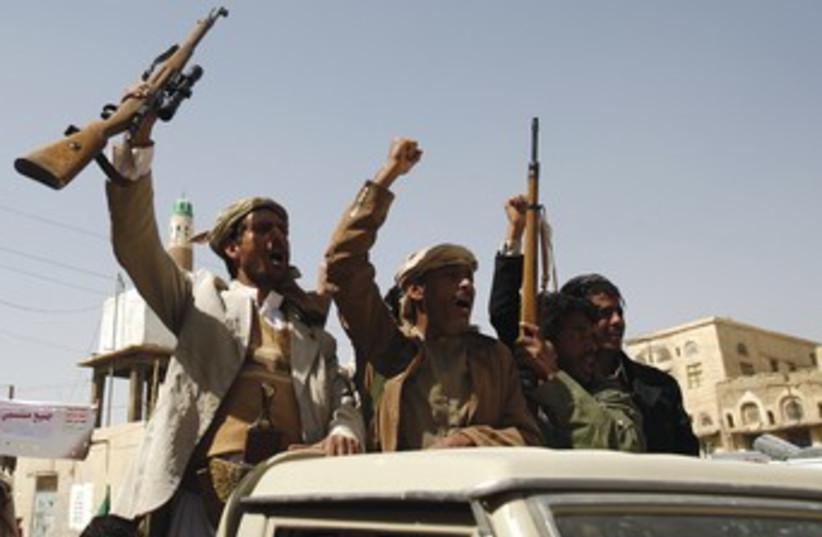 HOUTHI SHI'ITE rebels in Yemen 370 (photo credit: Khaled Abdullah/Reuters)