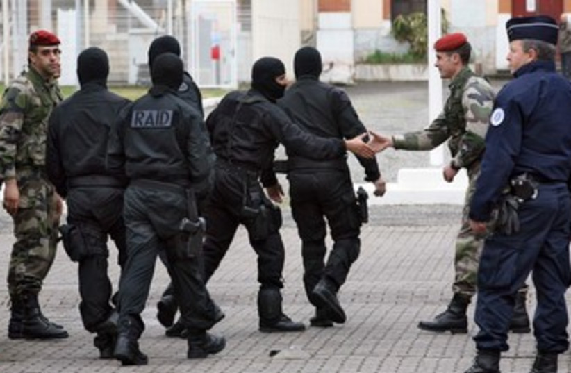 French special police unit RAID 370 (R) (photo credit: REUTERS/Pascal Parrot)