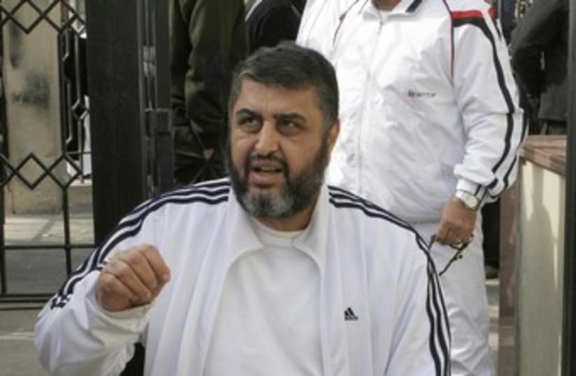 Muslim Brotherhood, FJP's Khairat al-Shater (photo credit: Reuters)