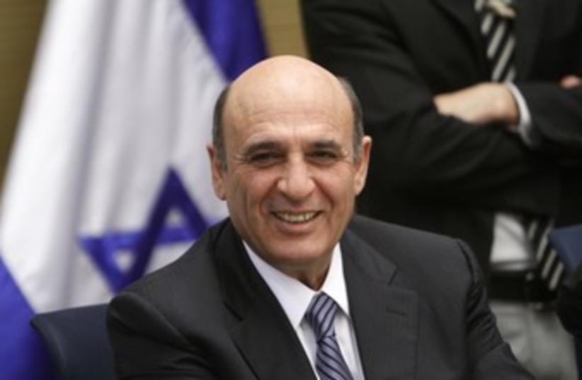 Shaul Mofaz smiling at Knesset_370 (photo credit: Marc Israel Sellem/The Jerusalem Post)