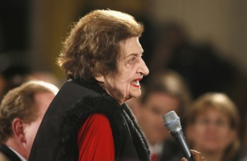 Helen Thomas (R) 370 (photo credit: REUTERS)