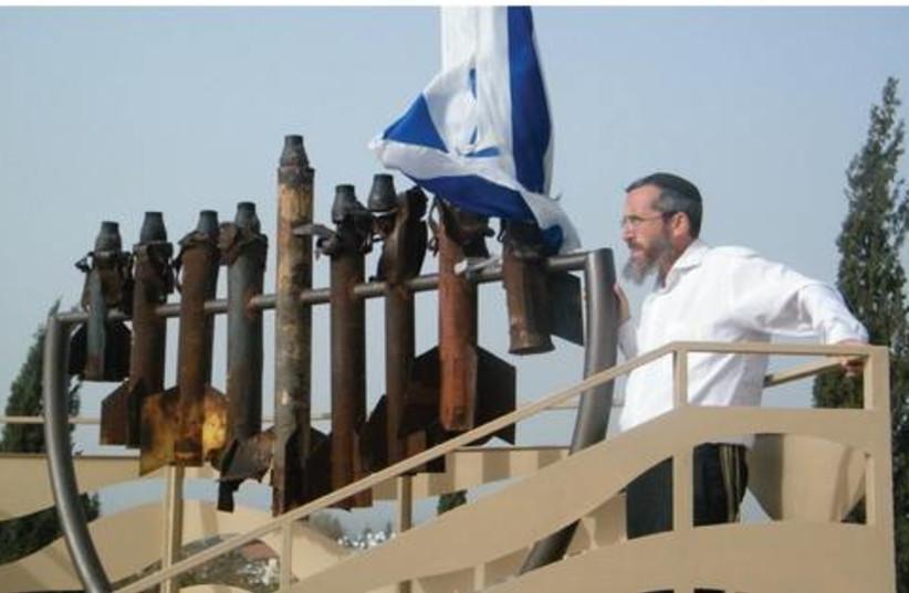 Menorah from gaza rockets521 (photo credit: David Fendel)
