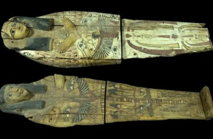 Egyptian Sarcophagi seized in Jerusalem 390 (photo credit: Clara Amit, courtesy of the Israel Antiquities Aut)