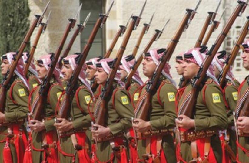 Jordanian Beduin honor guard 370 (photo credit: reuters)
