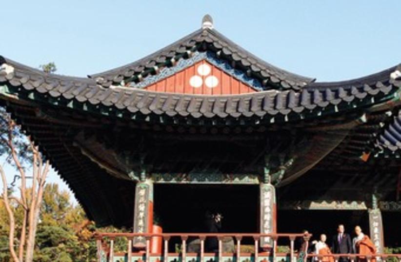 The Bongeunsa temple near Seoul 370 (R) (photo credit: Reuters)