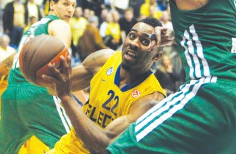 Maccabi Tel Aviv's Keith Langford  (photo credit: Reuters)