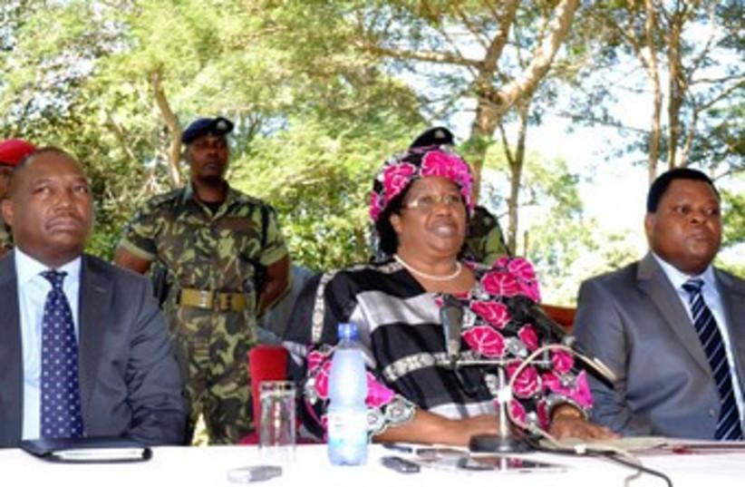 New Malawi President Joyce Banda 370 (photo credit: reuters)