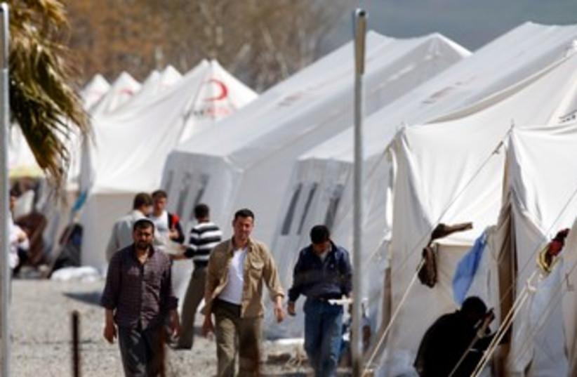 Syrian refugees at Islahiye camp in Gazintep, Turkey 370 (R) (photo credit: REUTERS/Osman Orsal)