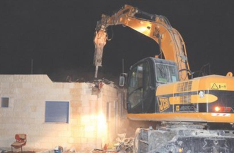 Migron home demolition 2011 370 (photo credit: Marc Israel Sellem)