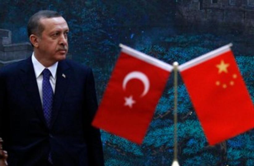 Turkish PM Erdogan in Beijing 370 (R) (photo credit: REUTERS/David Gray)