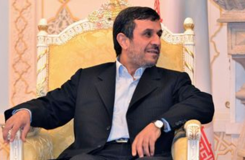 Iranian President Mahmoud Ahmadinejad 370 (R) (photo credit: REUTERS/Stringer)