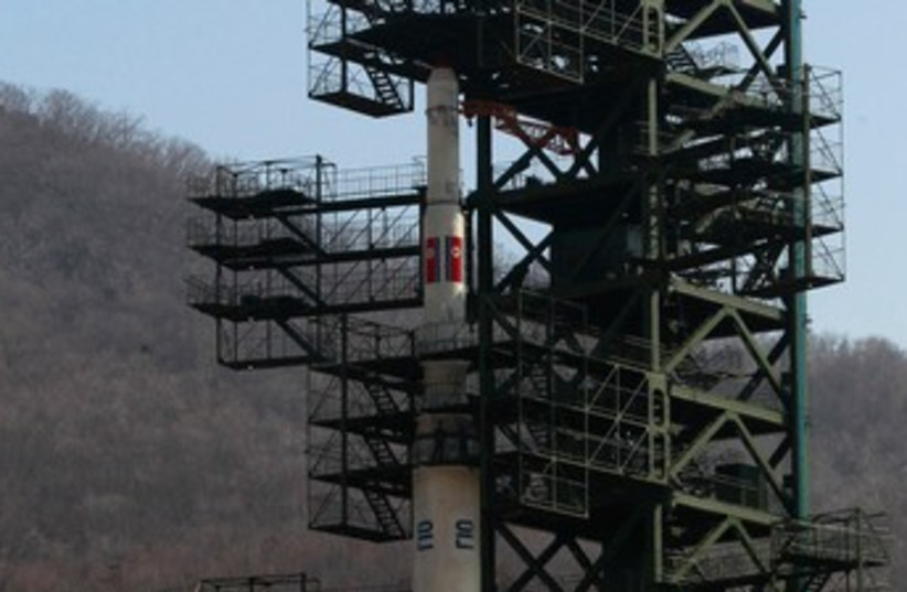 North Korean Unha-3  Rocket 370 (photo credit: REUTERS)