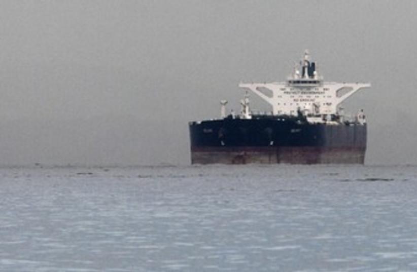 Iranian crude oil supertanker 370 (photo credit: REUTERS/Tim Chong)