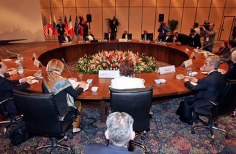 Iran nuclear talks in Istanbul 370 (R) (photo credit: REUTERS/Tolga Adanali/Pool)