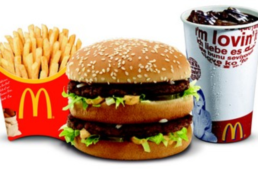 A McDonald's Big Mac meal 370 (photo credit: McDonald's Israel)