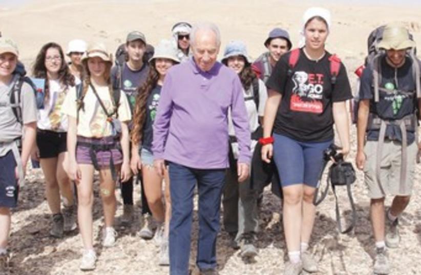 Peres on the tourist trail_370 (photo credit: Joseph Avi Yair Angel)