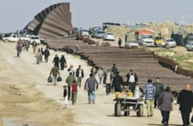 fallen Gaza fence 224 (photo credit: AP)
