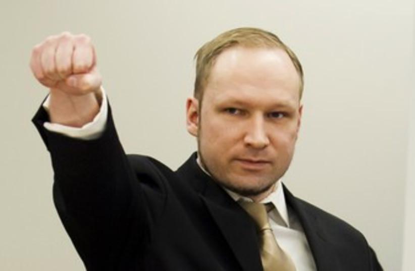 Norwegian mass killer Anders Behring Breivik 370 (photo credit: REUTERS/Heiko Junge/Pool)