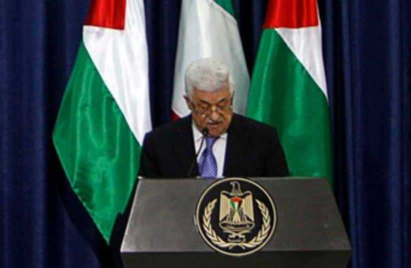 PA President Mahmoud Abbas in Ramallah 370 (R) (photo credit: REUTERS/Mohamad Torokman)