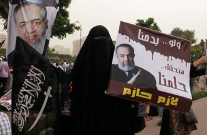 Supporter of Salafi presidential candidate Abu Ismail 370 (photo credit: REUTERS /Asmaa Waguih)