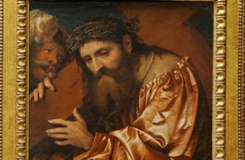 """Christ Carrying the Cross"" by  Girolamo de' Romani 370 (photo credit: reuters)"