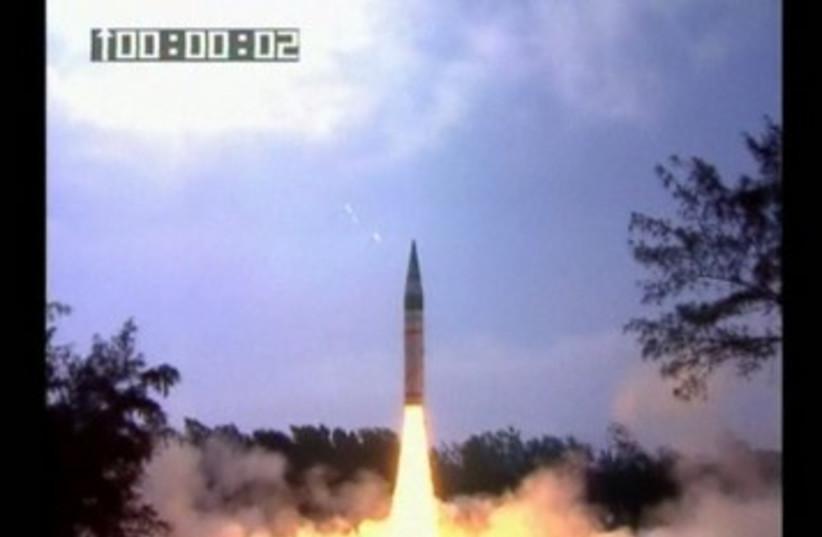 India tests long-range missile 390 (photo credit: REUTERS)