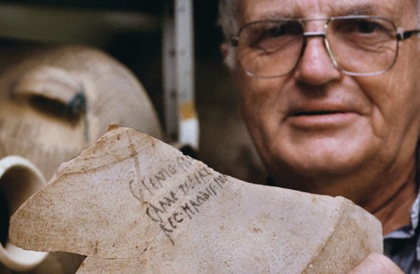 Prof. Netzer, artifact (photo credit: Reuters)