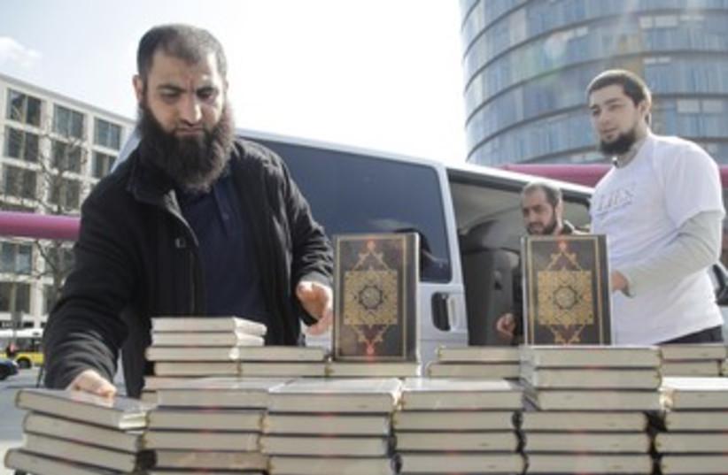 German Muslims hand out english-language Korans 370 (photo credit: REUTERS/Tobias Schwarz)