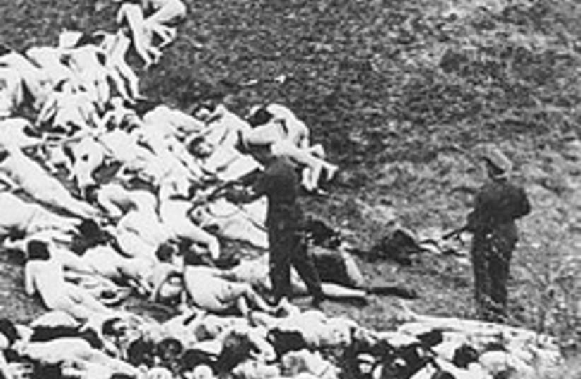 Nazi shoots Jewish woman 248.88 (photo credit: AP)