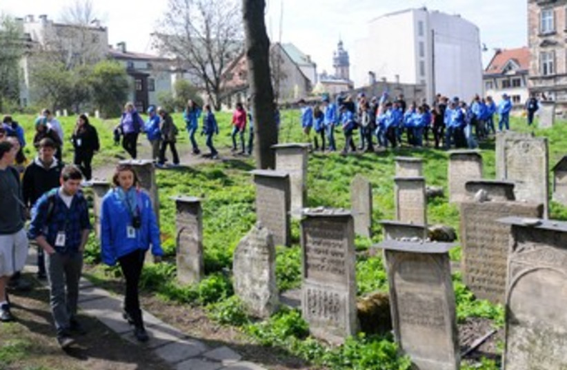 March of the Living in Polish cemetery_370 (photo credit: Yossi Zeilger)