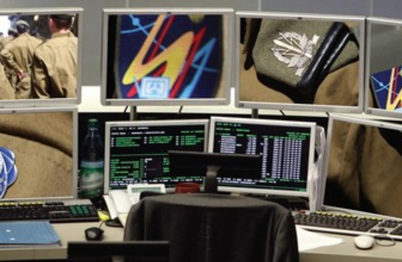 Cyber defense war room 370 (photo credit: Reuters and Marc Israel Sellem)