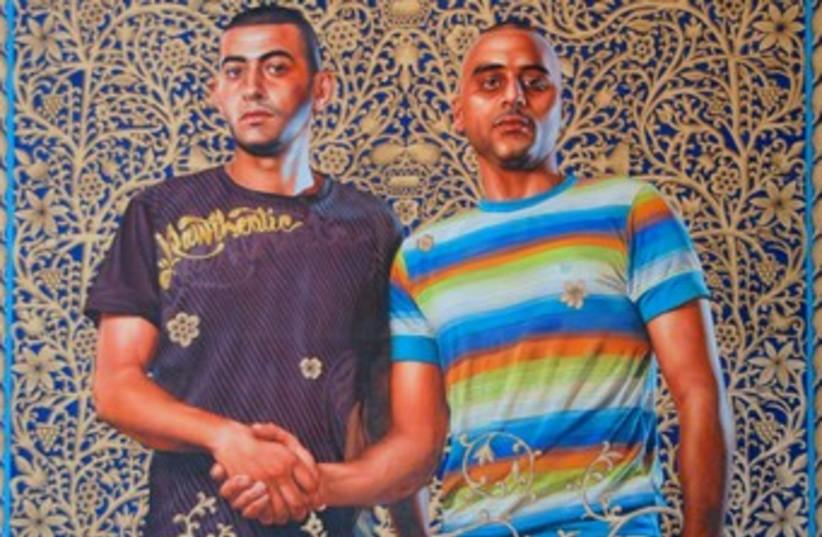 Kehinde Wiley art of Israeli men 370 (photo credit: Maxine Dovere)