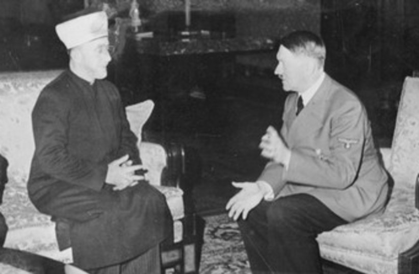 Palestinian Grand Mufti meeting with Hitler 370 (photo credit: German Federal Archive)