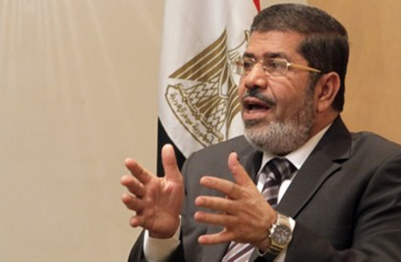 Mohamed Mursi, head of  Brotherhood's political party 370 (photo credit: REUTERS)