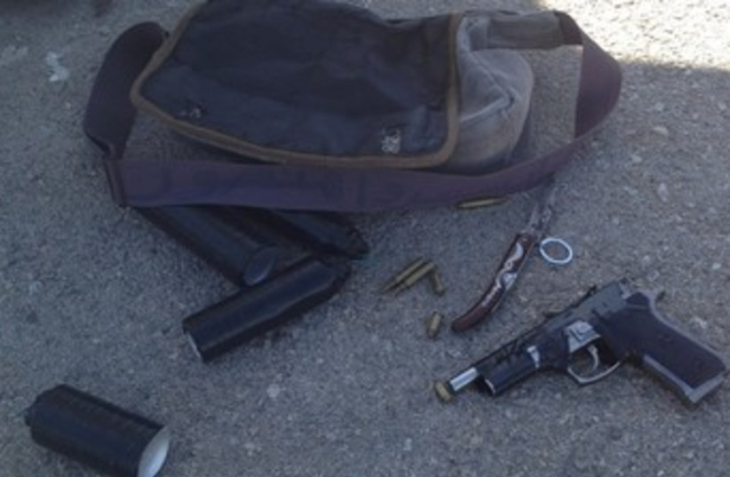Weapons seized at Tapuah Junction 370 (photo credit: Courtesy of Border Guard )
