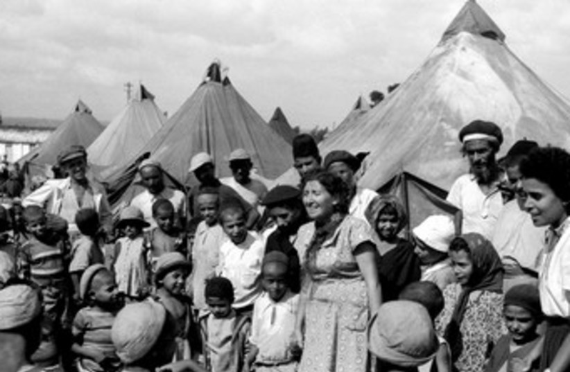 Jewish immigrants from Yemen in 1949 370 (R) (photo credit: REUTERS)