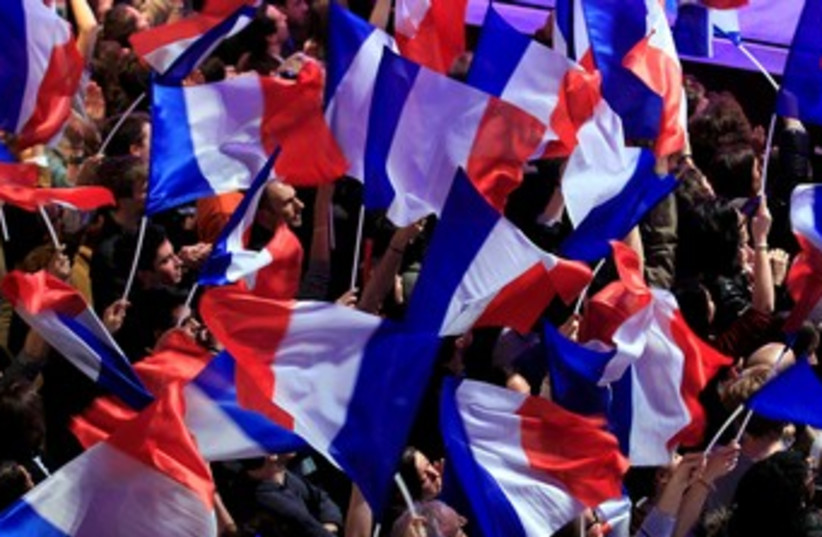 French flags 370 (photo credit: REUTERS/Yves Herman)