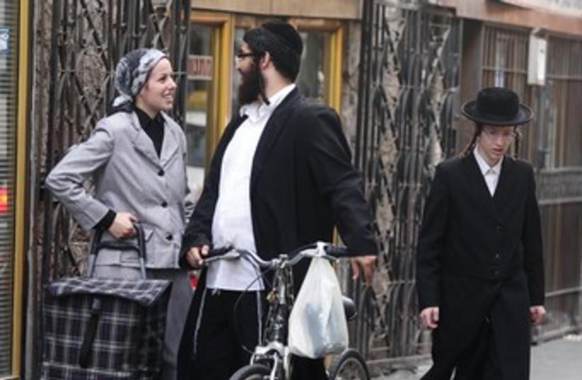 Haredim in Mea Shearim 370 (photo credit: Marc Israel Sellem)
