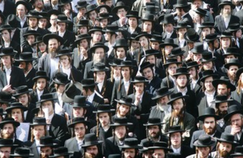 Sea of Haredim 370 (photo credit: Marc Israel Sellem)