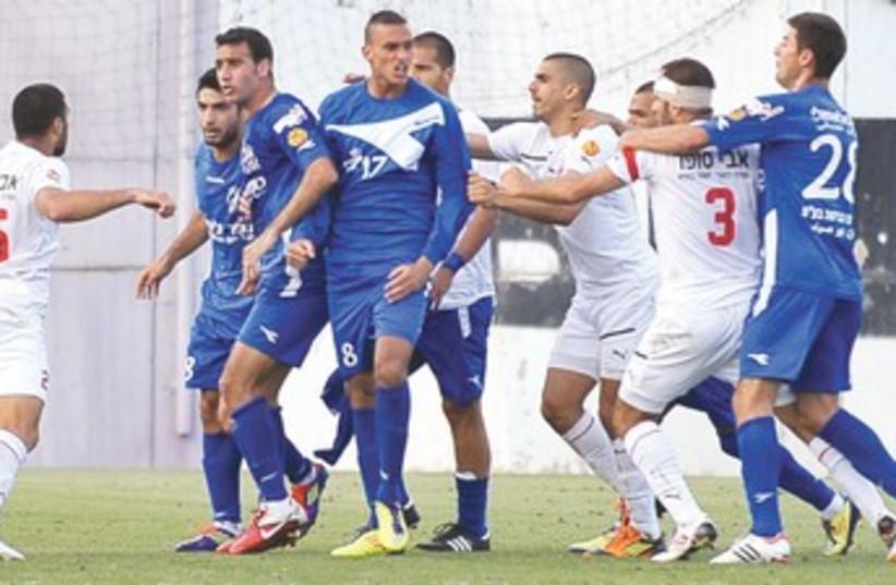 Bnei Lod - Hapoel Ramat Gan brawl 370 (photo credit: Asaf Kliger)