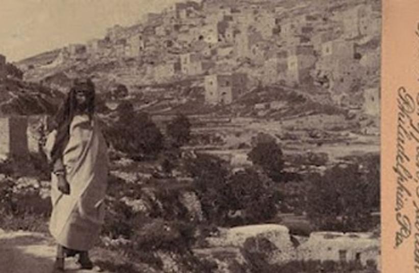 Yemenite Jew near old city walls (photo credit: American Colony-Jerusalem-Photo Dept.)
