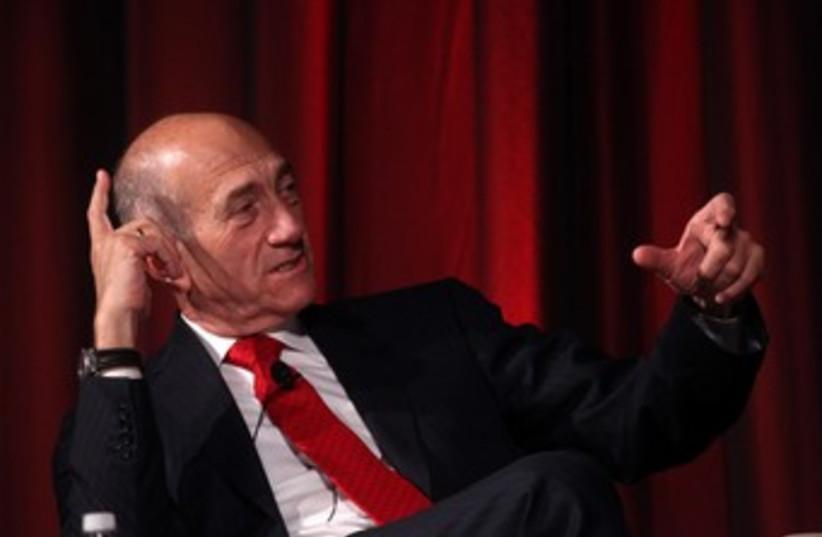 Former prime minister Ehud Olmert at JPost Conference 370 (photo credit: Marc Israel Sellem)