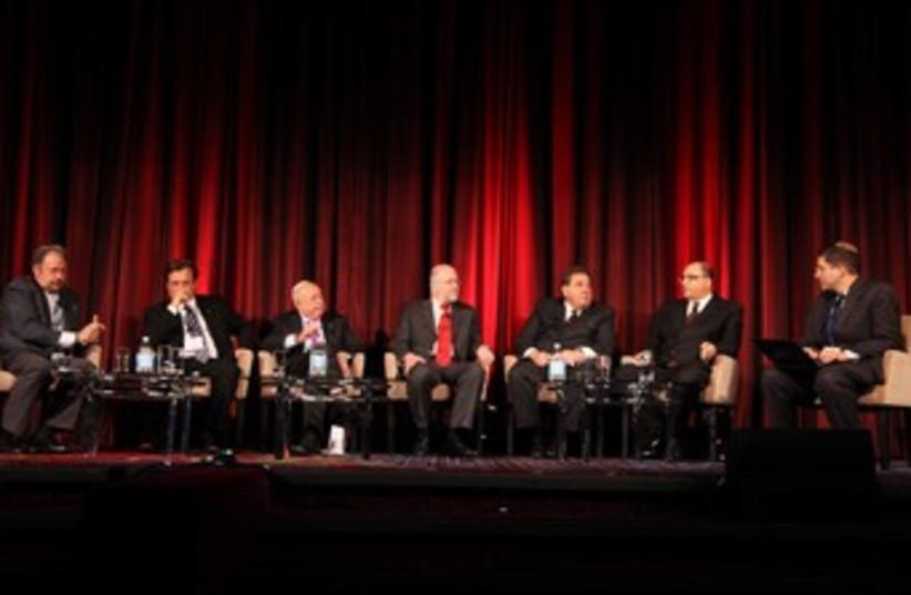 Panel at Jerusalem Post Conference 370 (photo credit: Marc Israel Sellem)